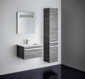 Ideal Standard Tonic II - Hochschrank mit 2 Türen 350 x 300 x 1735 mm eiche grau dekor