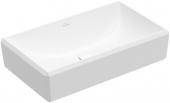 Villeroy & Boch Antheus - Aufsatzwaschtisch 650 x 388 mm ohne Überlauf stone white CeramicPlus