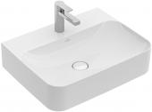 Villeroy & Boch Finion - Waschtisch 600 x 470 mm mit verdecktem Überlauf stone white mit CeramicPlus