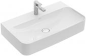 Villeroy & Boch Finion - Waschtisch 800 x 470 mm mit verdecktem Überlauf stone white mit CeramicPlus