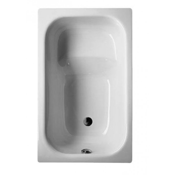 Bette BetteStufenwanne - Stages tub BetteGlaze Plus & antiskid Edelweiss - 118 x 73