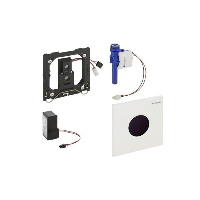 Geberit Sigma01 - Escudo con inflarrojos  para urinal chrome silk gloss / black