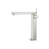 Dornbracht Lulu - Mezclador monomando para lavabo tamaño L sin vaciador automático platinum matt