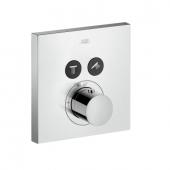 Hansgrohe Axor ShowerSelect - Thermostat UP Fertigset 2 Verbraucher quadratisch chrom