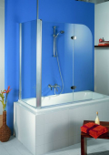 HSK - Sidewall to Bath screen, 96 special colors 700 x 1400 mm, 100 Glasses art center