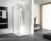 HSK - Sidewall to folding hinged door, 01 Alu silver matt 800 x 1850 mm, 100 Glasses art center