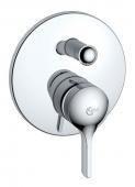 Ideal Standard Melange - Monomando de bañera empotrado para 2 llaves cromo