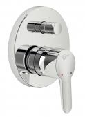 Ideal Standard Connect - Monomando de bañera empotrado para 2 llaves cromo