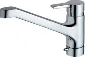 Ideal Standard Active - Mezclador monomando de cocina con caño giratorio cromo