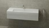 Burgbad Crono - Waschtischkonsole 1210 x 310 x 500 mm mit 1 Schublade weiß hochglanz / weiß Bild 1