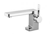 Dornbracht Lulu - Mezclador monomando para lavabo tamaño S sin vaciador automático platinum matt
