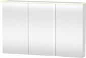 Duravit X-Large - Spiegelschrank 138x1200x760mm 3 Spiegeltüren LED nussbaum dunkel