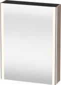 Duravit XSquare - SPS mit Beleuchtung 800x600x155 cappuccino hochglanz Türanschlag links
