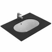 Ideal Standard Connect - Lavabo encastrado 620x410mm without tap holes with overflow blanco con IdealPlus