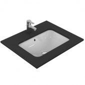 Ideal Standard Connect - Lavabo encastrado 580x410mm without tap holes with overflow blanco con IdealPlus