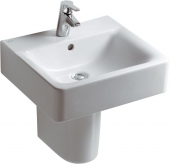 Ideal Standard Connect - Lavabo para mueble 500x460mm with 1 tap hole with overflow blanco con IdealPlus