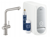 Grohe Blue Home - Starter Kit Bluetooth/WIFI L-Auslauf supersteel 1