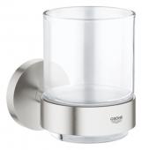 Grohe Essentials - Glas mit Halter supersteel