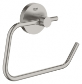 Grohe Essentials - WC-Papierhalter ohne Deckel Metall supersteel