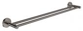 Grohe Essentials - Doppel-Badetuchhalter 654 mm hard graphite