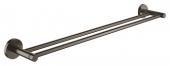 Grohe Essentials - Doppel-Badetuchhalter 654 mm hard graphite gebürstet