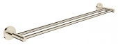 Grohe Essentials - Doppel-Badetuchhalter 654 mm nickel