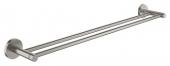 Grohe Essentials - Doppel-Badetuchhalter 654 mm Metall supersteel