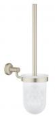 Grohe Essentials Authentic - Toilettenbürstengarnitur nickel gebürstet