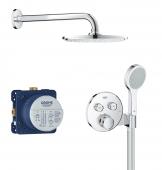 Grohe Grohtherm SmartControl - Unterputz-Duschsystem m. Rainshower Cosmopolitan 210 Kopfbrause chrom 1