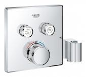 Grohe Grohtherm SmartControl - Thermostat mit 2 Absperrventilen und integriertem Brausehalter chrom