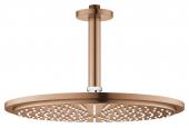 Grohe Rainshower Cosmopolitan - Kopfbrauseset 310 Deckenauslass 142 mm warm sunset gebürstet