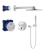 GROHE SmartControl - Duschsystem Rainshower 310 Smart Active mit Mischer chrom