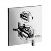 Hansgrohe Axor Citterio - Thermostat Unterputz mit Ab- und Umstellventil mit Kreuzgriff chrom