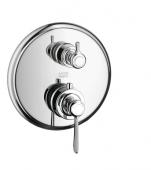 Hansgrohe Axor Montreux - Thermostat Unterputz F-Set Hebelgriff chrom mit Absperrventil