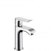 Hansgrohe Metris - Einhebel-Waschtischmischer 100 mit Zugstangen-Ablaufgarnitur für Handwaschbecken