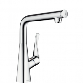 Hansgrohe Metris Select - Einhebel-Küchenmischer 320 edelstahl-optik
