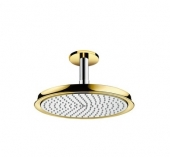 Hansgrohe Raindance Classic - Tellerkopfbrause 240 mm Air chrom / gold mit Deckenelement 100 mm
