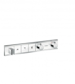 Hansgrohe RainSelect - Thermostat Unterputz Fertigset 3 Verbraucher weiß / chrom
