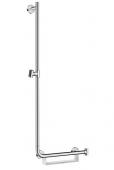 Hansgrohe Unica Comfort  - Brausenstange 1100 mm Haltegriff rechts weiß / chrom