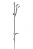 Hansgrohe Raindance Select E 120 - Unica'S Puro Set 900 mm EcoSmart weiß / chrom