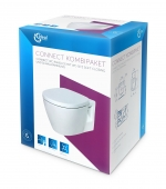Ideal Standard Connect - Wand-WC spülrandlos Kombipaket mit WC-Sitz weiß