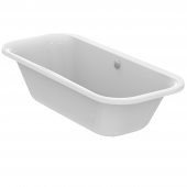 Ideal Standard Tonic II - Oval-Badewanne mit Ablauf und Füller 1800 x 800 x 480 mm weiß