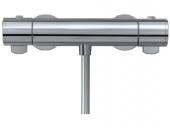 Keuco Plan - Mezclador termostático de ducha expuesto para 1 llave aluminium-finish