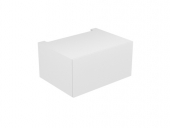 Keuco Edition 11 - Base cabinet 31311, 1 pan drawer, with lighting, truffles / truffle glass