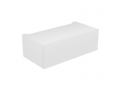 Keuco Edition 11 - Base cabinet 31312, 1 pan drawer, with lighting, truffles / truffle glass