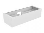 Keuco Edition 11 - Waschtischunterschrank 31361 mit 1 Front-Auszug Glas weiß / Lack seidenmatt weiß