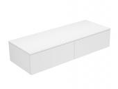 Keuco Edition 400 - Sideboard 31765 2 Auszug weiß / Glas weiß satiniert