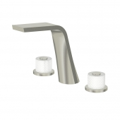 Steinberg Serie 360 - 3-Loch Waschtischarmatur brushed nickel / facet cut frozen