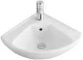 Villeroy & Boch O.novo - Eck-Handwaschbecken Compact mit Schenkellänge 415 mm mit CeramicPlus weiß