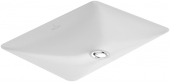 Villeroy & Boch Loop & Friends - Lavabo encastrado 615x380mm without tap holes with overflow blanco con CeramicPlus